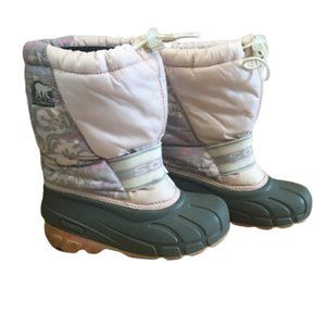 Sorel Pink Insulated Winter Snow Boots Size 2